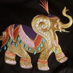 Bob Mackie elephant  jacket size XL